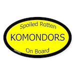 Spoiled Komondors On Board Oval Sticker