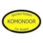 Spoiled Komondor On Board Oval Sticker