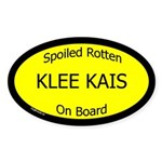 Spoiled Klee Kais On Board Oval Sticker