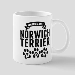 Worlds Best Norwich Terrier Mom Mugs