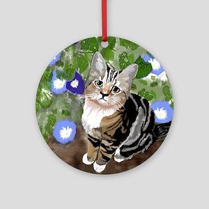 Stewie - The First Kitten Round Ornament