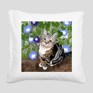Stewie - The First Kitten Square Canvas Pillow