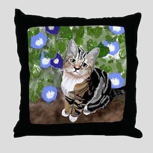 Stewie - The First Kitten Throw Pillow