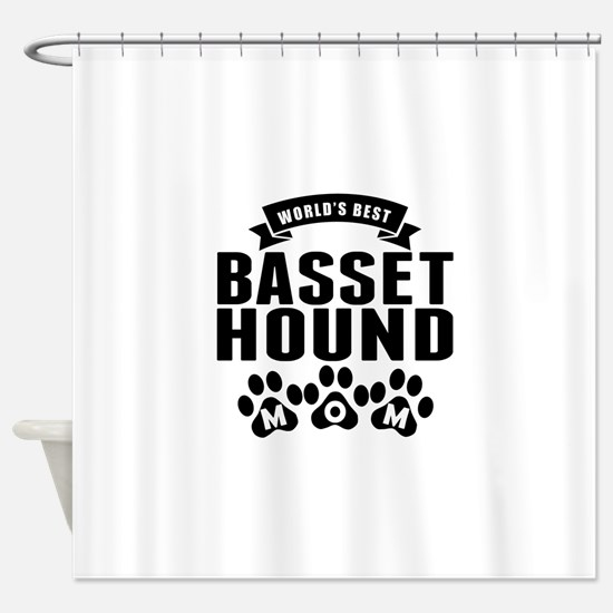 Worlds Best Basset Hound Mom Shower Curtain