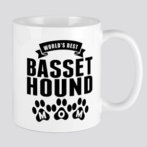 Worlds Best Basset Hound Mom Mugs