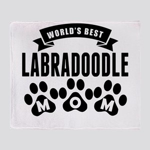 Worlds Best Labradoodle Mom Throw Blanket
