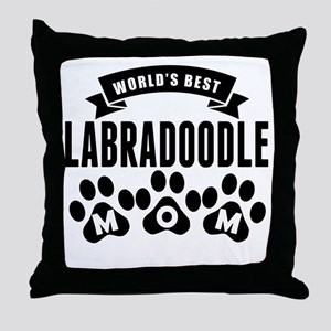 Worlds Best Labradoodle Mom Throw Pillow