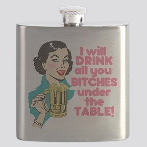 Funny Beer Drinking Humor Flask