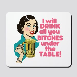 Funny Beer Drinking Humor Mousepad