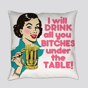 Funny Beer Drinking Humor Everyday Pillow