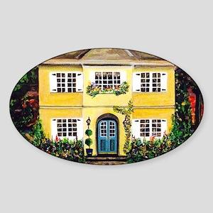 Sarah's Dream House Sticker (Oval)