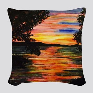 View from Sarah's Dream House Woven Throw Pillow