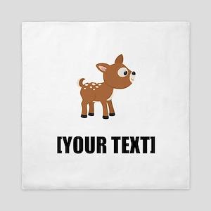 Cartoon Deer Personalize It! Queen Duvet