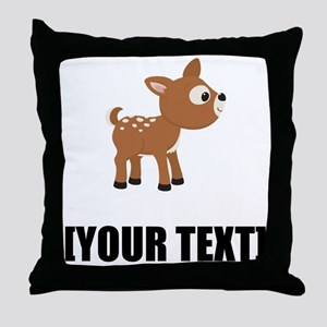 Cartoon Deer Personalize It! Throw Pillow