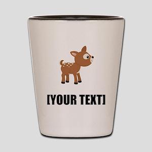 Cartoon Deer Personalize It! Shot Glass