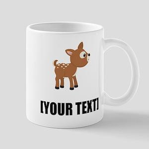 Cartoon Deer Personalize It! Mugs