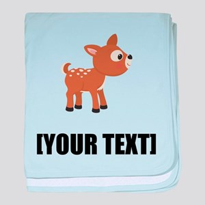 Cartoon Deer Personalize It! baby blanket