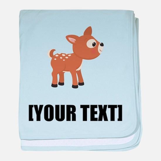 Cartoon Deer Personalize It! baby blanket