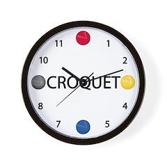 Croquet Wall Clock