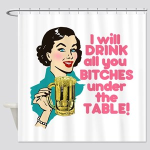 Funny Beer Drinking Humor Shower Curtain