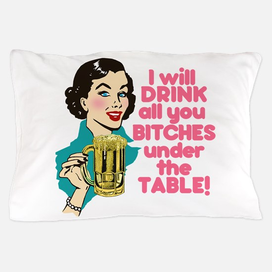 Funny Beer Drinking Humor Pillow Case