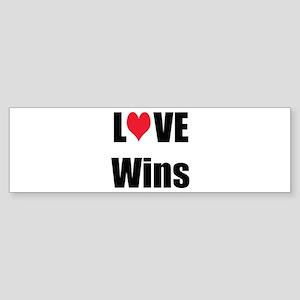 Love Wins Sticker (Bumper)