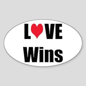 Love Wins Sticker (Oval)