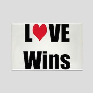 Love Wins Rectangle Magnet