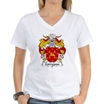 Carregosa Family Crest Women's V-Neck T-Shirt