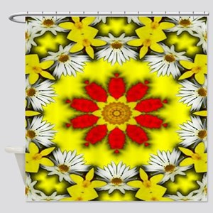 Flower Swirl3 Shower Curtain