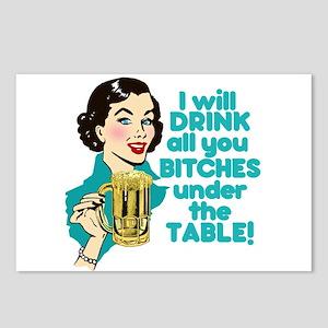 Funny Beer Drinking Humor Postcards (Package of 8)