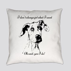 Fun Great Dane Dog Quote Everyday Pillow