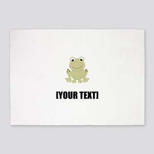 Cartoon Frog Personalize It! 5'x7'Area Rug