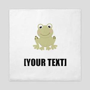 Cartoon Frog Personalize It! Queen Duvet