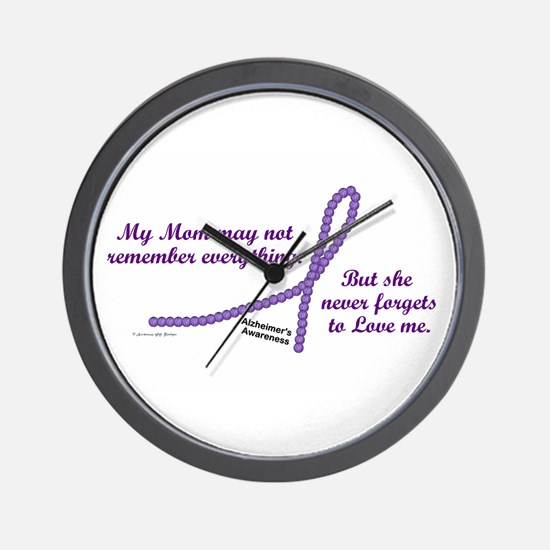 Never Forgets To Love (Mom) Wall Clock