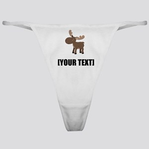 Cartoon Moose Personalize It! Classic Thong