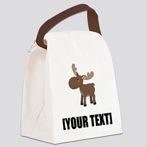 Cartoon Moose Personalize It! Canvas Lunch Bag