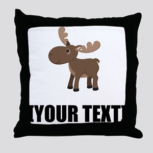 Cartoon Moose Personalize It! Throw Pillow