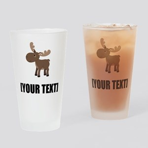 Cartoon Moose Personalize It! Drinking Glass