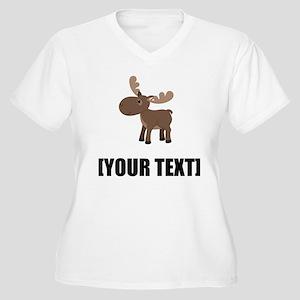 Cartoon Moose Personalize It! Plus Size T-Shirt