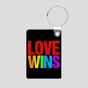 Love Wins Aluminum Photo Keychain