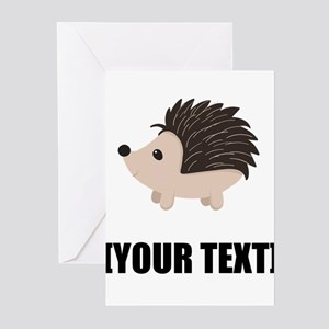 Cartoon Porcupine Personalize It! Greeting Cards