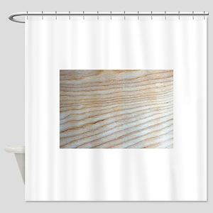 Chic Unique Wood Grain Poppy's Fave Shower Curtain
