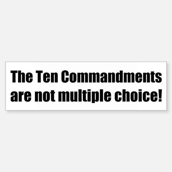 10 Commandments Bumper Bumper Bumper Sticker