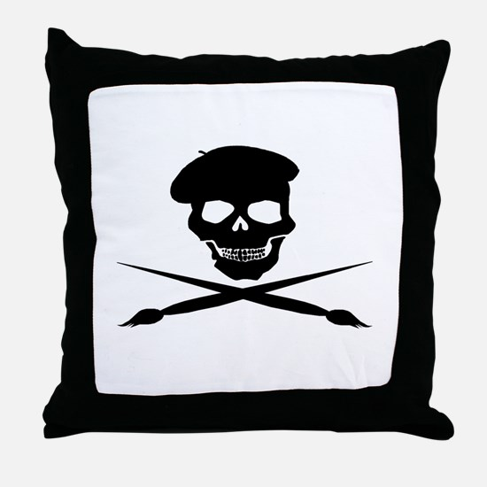 Unique Painter Throw Pillow