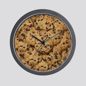 Chocolate Chop Cookie Pattern Wall Clock
