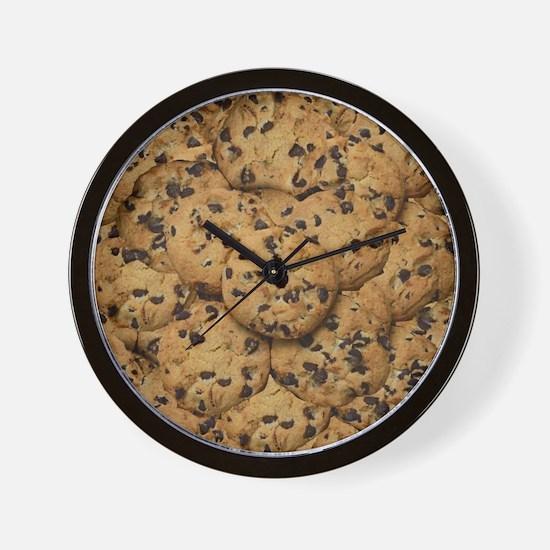 Chocolate Chop Cookie Pattern Wall Clock