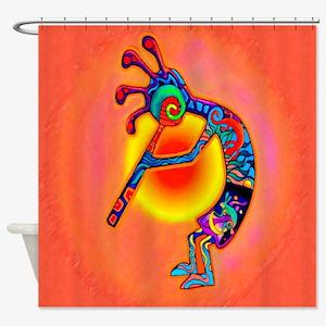 Lizard Kokopelli Sun Shower Curtain