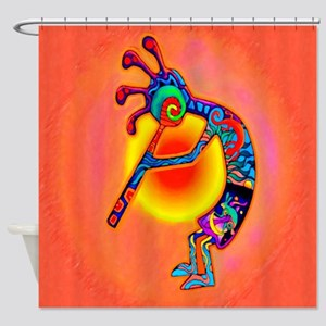 Lizard Kokopelli Sun Shower Curtain