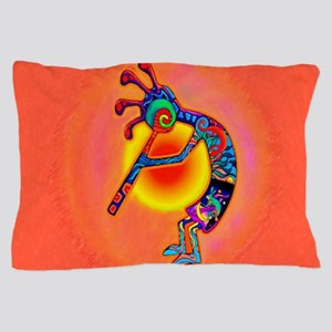 Lizard Kokopelli Sun Pillow Case